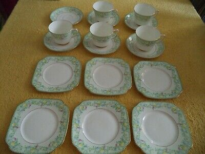 Vintage Jason China. 6 saucers & tea plates, 5 cups. Made in England 410.