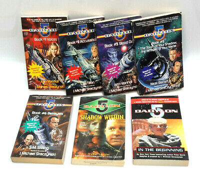 Vintage Babylon 5 Paperback Book Lot of 7 Lightly Read Books (J-6027)