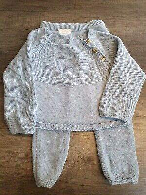 Boys Clothes Next knitted grey outfit Jumper and trouser 9-12 Months immaculate