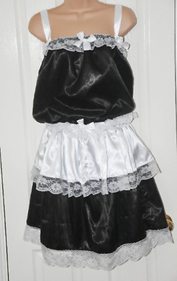 JS 26x - Sissy Sissy French Maid satin dress and panties, BN, dressing up fun