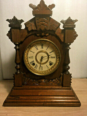 Ansonia Tivoli Oak Cased Chiming Mantel Clock, 8-Day Pat.1882