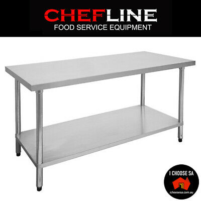 Premium Stainless Steel Kitchen Food Shelving Work Bench Food Catering Table