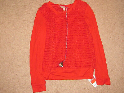 Girls Speechless Red Top with Necklace (S)