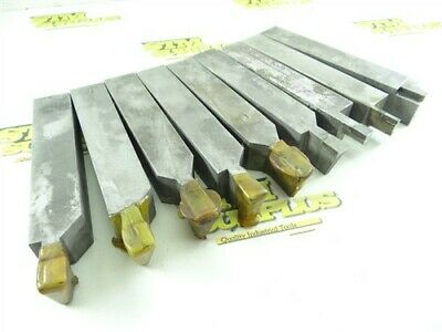 "Lot Of 9 Carbide Tipped Tool Bits 1"" Shanks"