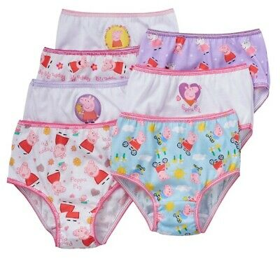 Girls Size 4T Peppa Pig Briefs Panties Underwear 7 Pack Assorted NIP