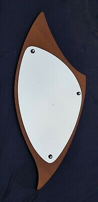 Unusual Mid Century  Shield Shaped Mirror 60'S 70'S