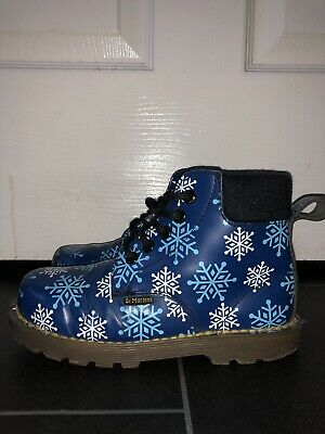 Girls / Boys  Blue DR MARTENS Snowflake Boots Uk Size 12
