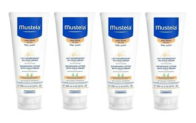Mustela Nourishing Lotion with Cold Cream, Body, 6.76 Oz (Pack of 4)