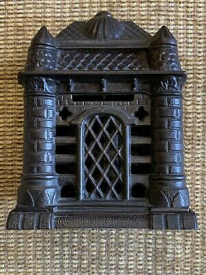 "Rare Four Tower Cast Iron Still Bank J.& E. Stevens USA 5 3/4"" 1895"