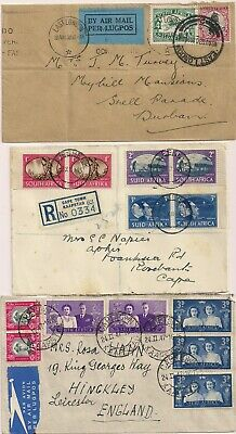 South Africa Südafrika 1930 1945 1947 3 x cover.