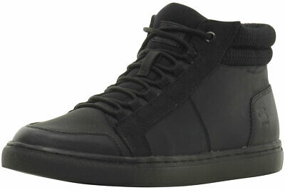 G STAR RAW MEN'S Zlov Cargo Mono Mid Black High Top Sneakers