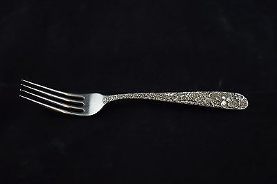 "S Kirk & Son Repousse Sterling Silver Dinner Fork - 7-7/8"" - NO MONOGRAM"