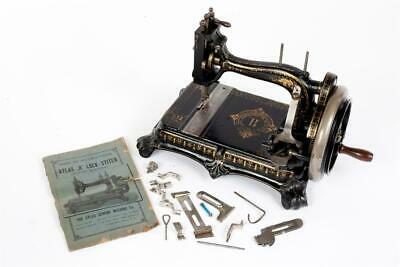 """Vintage ~ c1890 ~ """"Atlas B"""" Sewing Machine Made by """"Grimme, Natalis & Co.""""  #449"""