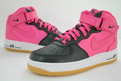 Nike Air Force 1 Mid Grade School Valentines Day White Pink Red 6.5 518218-101