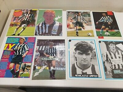 8 X Newcastle United Football club Autographed Signed Magazine Posters Laminated