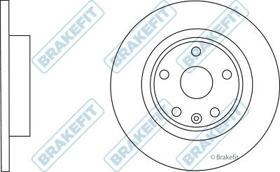 VAUXHALL MOKKA J13 1.7D 2x Brake Discs Pair Solid Rear 2012 on A17DTS 268mm
