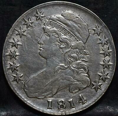 1814 Capped Bust Half Dollar Id#Hh121