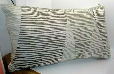 Ink+Ivy Aero Embroidered Abstract Oblong Pillow Natural 12x20 II30-759