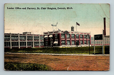 1916 Lozier Office and Factory St clair Heights Detroit Michigan Postcard