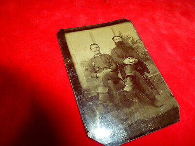 Civil War Era Tintype Of Seated Cavalry Soldier With Turned Down Cavalry Boots