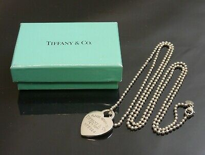 Authentic Tiffany & Co. Necklace Return to Heart Long Sterling Silver #10729