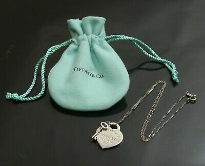 Authentic Tiffany & Co. Necklace Return to Heart Key Sterling Silver #10819