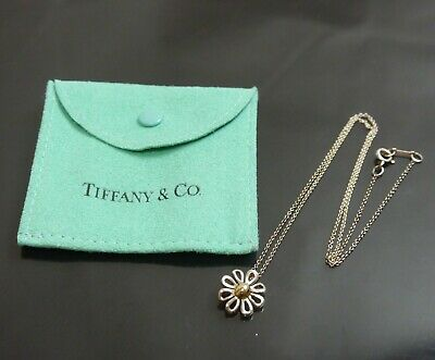 Authentic Tiffany & Co. Necklace Daisy combination flower Sterling Silver #6229