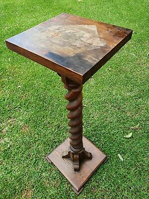 Jacobean Style Solid Oak Plant Stand