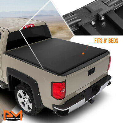 Fit 05 15 Toyota Tacoma 6 Bed Tri Fold Adjustable Soft Top Trunk Tonneau Cover