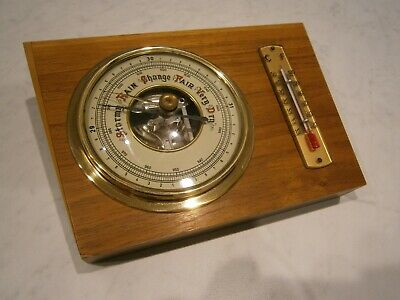 Vintage Restored   Wall Barometer / Thermometer