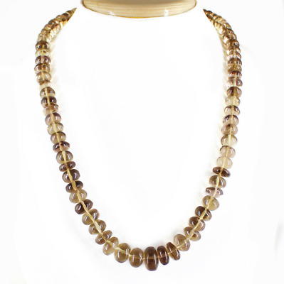 Natural Rich 415.00 Cts Smoky Quartz Beads Necklace