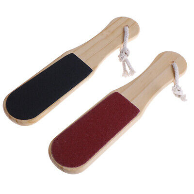 1Pc Double Side Foot Rasp File Wood Foot Callus Remover Pedicure Care Tool-~GN