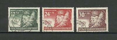 German General Government Stamps 1940 Winter Welfare - VF / Used