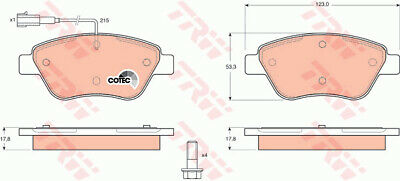 FIAT 500 312 1.4 Brake Pads Set Front 07 to 11 169A3.000 TRW 71770062 77362091