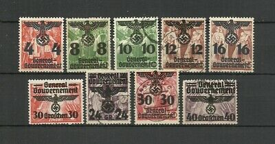 German 1940 General Government Poland Occupation Stamps Lot 2 - VF- Used/Unused