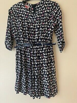 Girls Bunny Dress With Belt John Lewis Age 7-8 Years