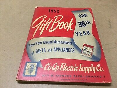 Vintage Co Op Electric Supply Co. Gift Book Catalog 1952 Chicago