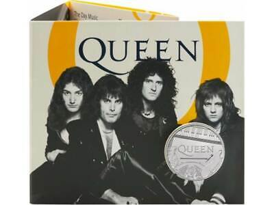 5 Pounds Pfund Music Legends - Queen Grossbritannien UK BU im Folder 2020