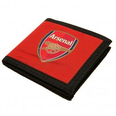 Arsenal FC Money Wallet Canvas Red Official Merchandise Touch Fasten Red AFC