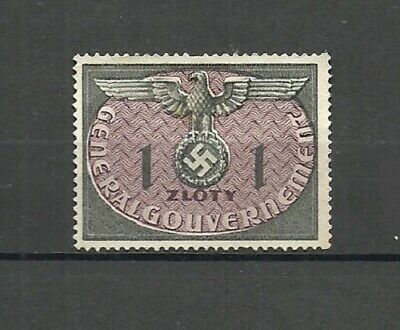 German 1940 General Government Poland Occupation Stamps - 1/1Zl - MNH