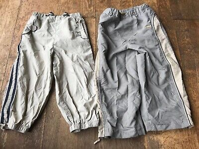 2 Pairs Of Boys Elastic Waist Lightweight Trousers From George & Primark Age 3-4