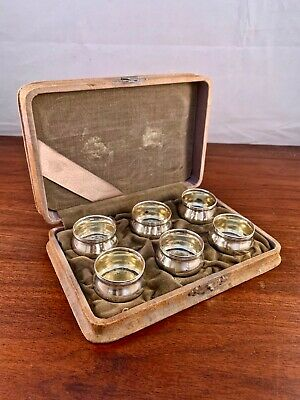 (6) Wallace Sterling Silver Individual Salt Cellars: In Orig. Box, No Monograms