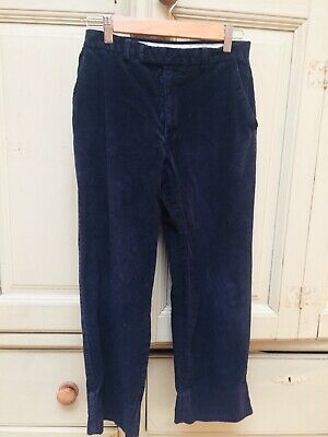 "BE Tailors & Outfitters Corduroy navy traditional Trousers W29"" L31"" Age 11-13"