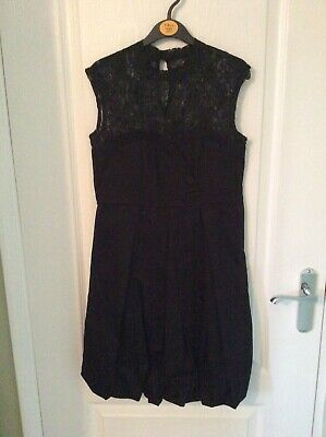 BNWT Girls M&Co Black Lined Lace Top Prom Dress age 13 yrs