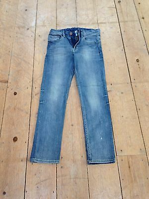 H&M Boys Skinny/Slim Stretch Jeans - Dark Blue Denim - Size 10-11