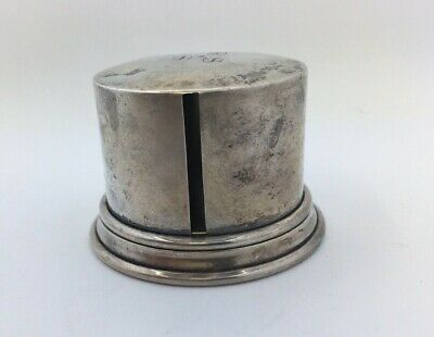 RARE AMERICAN STERLING SILVER STAMP ROLL CASE BOX c1920 ANTIQUE