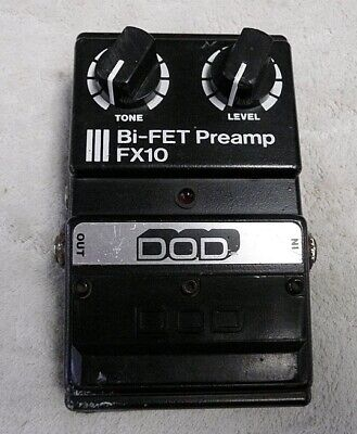 Vintage DOD FX-10 BI-FET PreAmp Pedal Works/Sounds Great - VGC - Free Shipping
