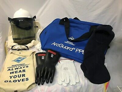 ArcGuard PPE kit with helmet, gloves, bag, and hood - New Excellent