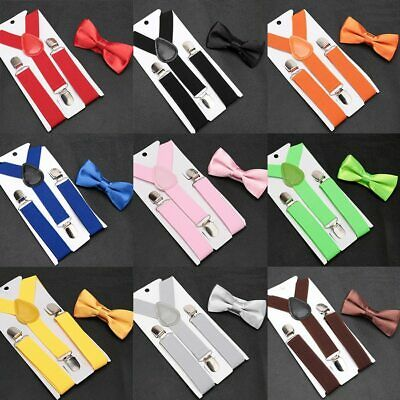 X BACK SUSPENDERS and BOW TIE 50mm X BackTuxedo Classic Wedding Costume Tux Prom