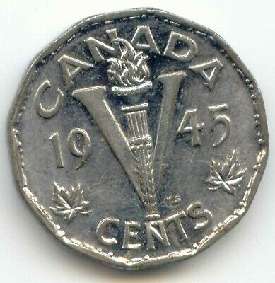 Canada 1945 Victory Nickel Canadian Five Cent Piece *EXACT* COIN